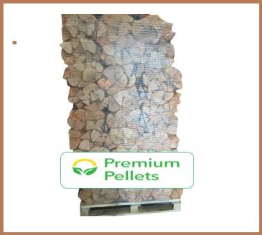 Pallet – 30L Net Bags Kiln Dried Ash Firewood – (88 Bags)